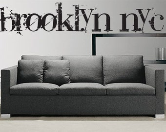Vinyl Wall Decal Sticker Brooklyn NYC T102A
