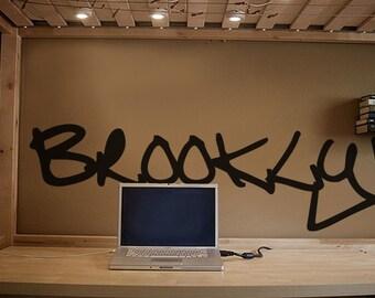 Vinyl Wall Art Decal Sticker Brooklyn Graffiti NYC Art item T101
