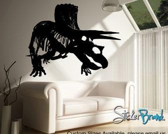 Vinyl Wall Decal Sticker Dino Triceratops  MMartin149B