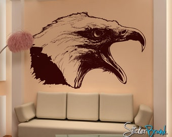 Vinyl Wall Decal Sticker Screaming Eagle 795