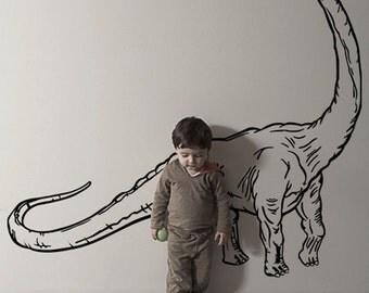 Vinyl Wall Decal Sticker Dinosaur Dino Brachiosaurus Long Neck  KRiley116B