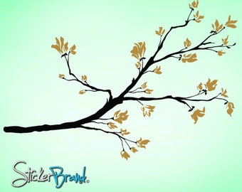 Vinyl Wall Decal Sticker Floral Branch Blossoms   Item 838B