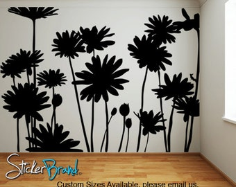 Vinyl Wall Decal Sticker Daisies Flowers  AC141m