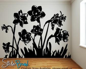 Vinyl Wall Decal Sticker Daffodils AC159s