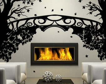 Vinyl Wall Decal Sticker Floral Tree Fantasy Bridge GFoster167s