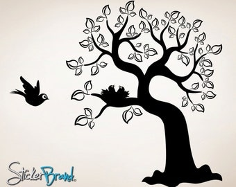 Vinyl Wall Decal Sticker Bird And Tree  item OSES102B