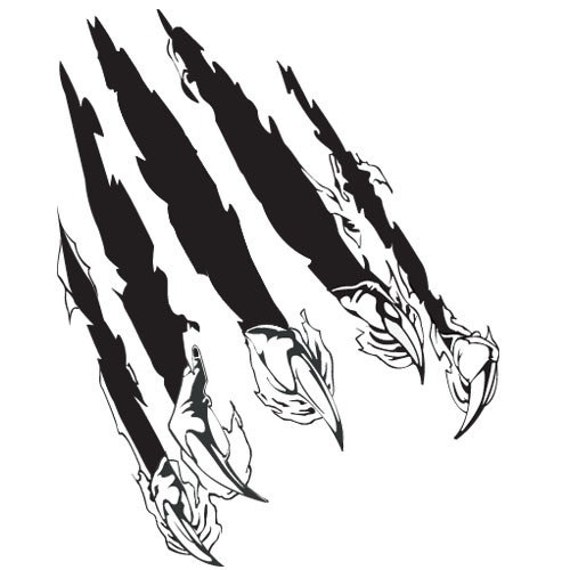 Vinyl Wall Art Decal Sticker Predator Claw Attack 125s