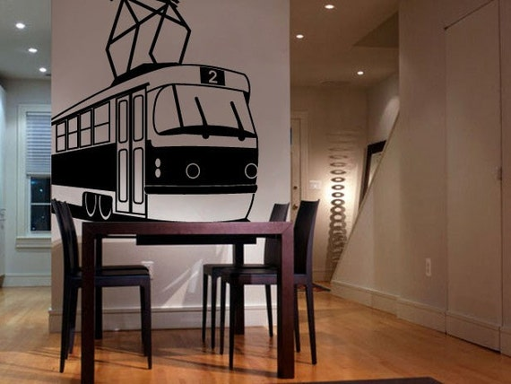 Vinyl Wall Decal Sticker Subway Cable Train Car 290