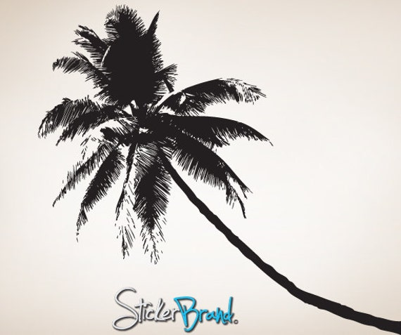 Vinyl wall decal sticker tropical palm tree 781s for Beautiful palm tree decal for wall