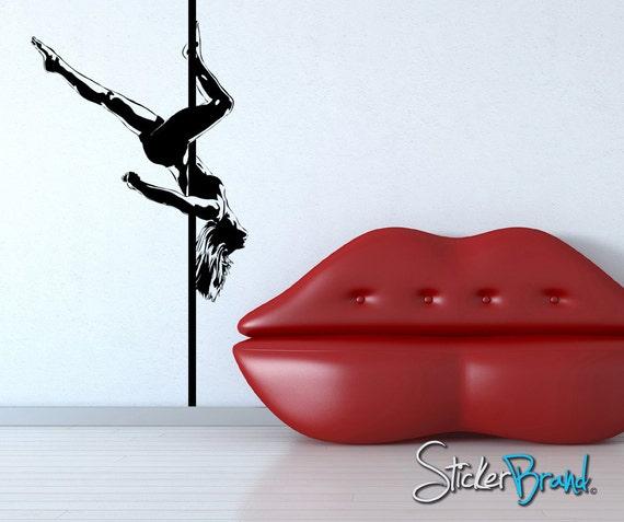 Lips wall stencil