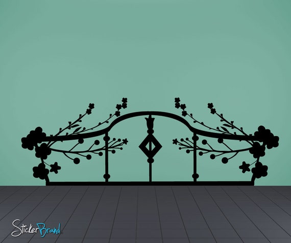 Items similar to vinyl wall decal sticker bed frame item for Bed frame wall decal