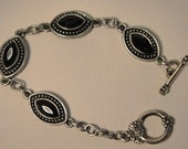 Bracelet and Earrings set in Art Deco style - Black Ice from my Gatsby collection