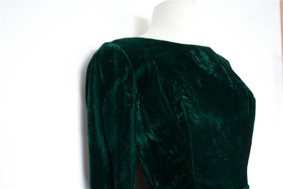 SALE Vintage GREEN VELVET 1960s Prom Dress Bubble Hem