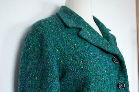 SALE Vintage 1960s GREEN Wool SKIRTSUIT