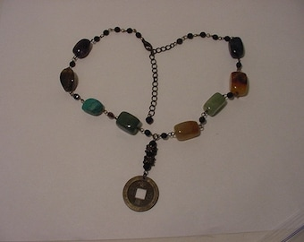 Vntage Made In India Polished Stone Necklace 2011 - 297