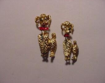 Vintage Poodle Dog Duet Scatter Pins  2011 - 698