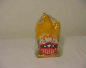 Vintage 1976 Bi Centennial Candle  In Original Packaging   2011 -  952