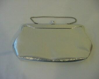 Vintage 1960s Era  Silver Evening Bag   2011 - 1320