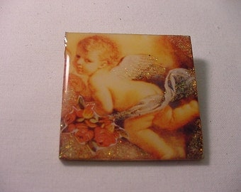 Vintage Cherub Angel Brooch    2011 - 912