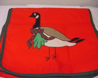 Vintage Christmas Canadian Goose Table Runner From Neiman Marcus Department Store  XMAS 130