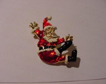 Vintage Santa Claus Christmas Brooch     XMAS 161