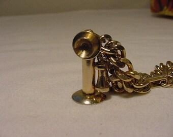 Vintage Candle Stick Telephone Charm Bracelet.  2011 - 1708