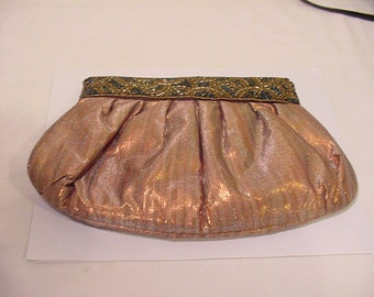 Vintage  Neiman Marcus Genie Glass Beaded Purse   # HAS 30