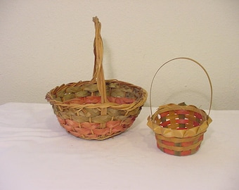 Two Vintage 1950 Era Easter Baskets    # HAS  38