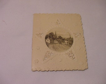 Vintage Valentine Day Card With Seven Page Poem Inside  # HAS 47