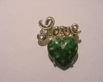 Vintage Gerry's Love Heart Brooch   11 - 842