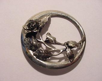 Vintage Danecraft Sterling Silver Flower Brooch   11 - 1978