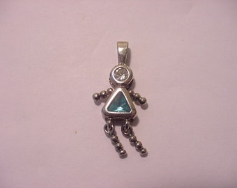 Vintage Rhinestone Woman Or Girl Pendant   11 - 2026