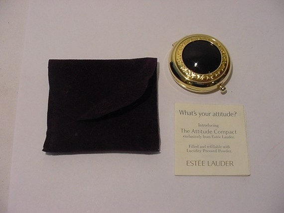 Vintage Estee Lauder Attitude Compact New In Pouch  With Instructions  2011 - 88