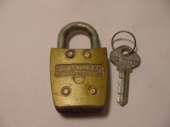 Vintage Slaymaster Rustless Lock And Key   2011 - 1726