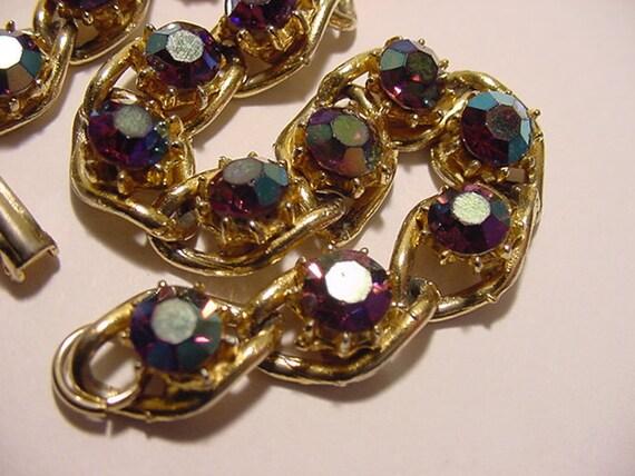 Vintage Aurora Borealis Rhinestone Bracelet   2011 - 1888