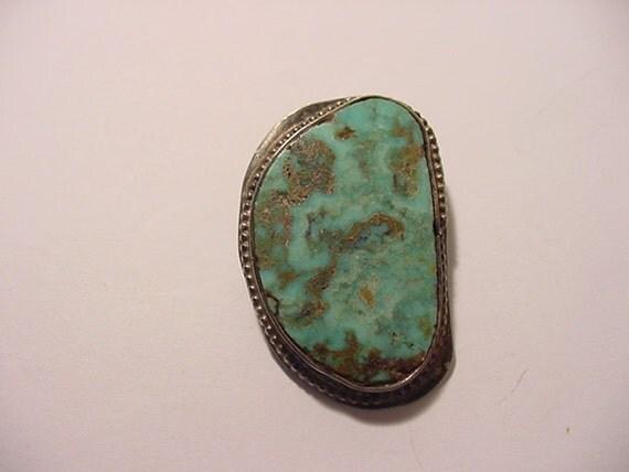 Vintage Turquoise Tie Slider Or Scarf Holder   2011 - 1899
