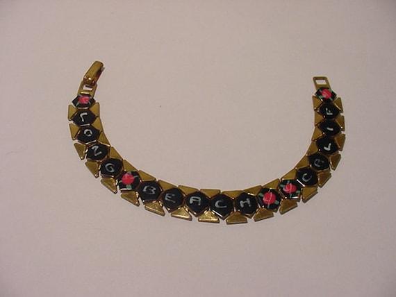 Vintage Long Beach California Souvenir Bracelet   11 - 838