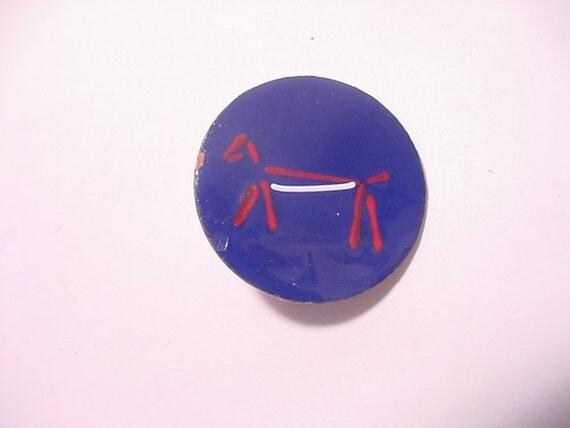 Vintage Enameled Copper Brooch Stick Figure Dog   12 - 195