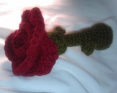 Rattle Baby Toy  amigurumi crochet rose  Free gift with order