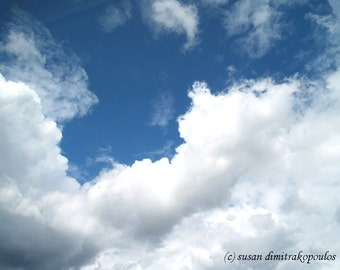 Clouds photograph - Just Breathe - wall art, sky clouds, fine art photo, home office decor,  inspirational, meditation, gift 20