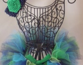 Peacock Tutu and Headband with Peacock Feather by I Love You Tutu Much