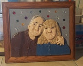 Custom made 3D Clay Portrait , One of a Kind, Polymer Clay, Wall Art, Altered Photo, Reproduction Of A Photograph, Abstract Art, Personal