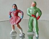 Vintage Lead Ice Skaters