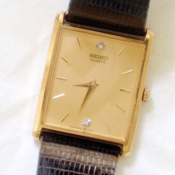 Vintage Seiko Wafer Thin Mens Watch By Rattyandcatty On Etsy