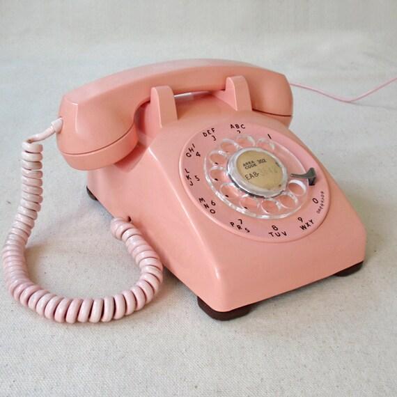 Vintage PINK Rotary Telephone