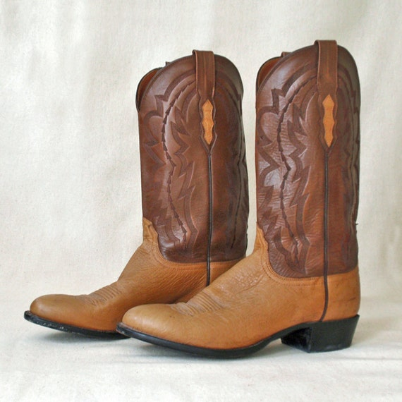 sale gently used lucchese leather and ostrich western