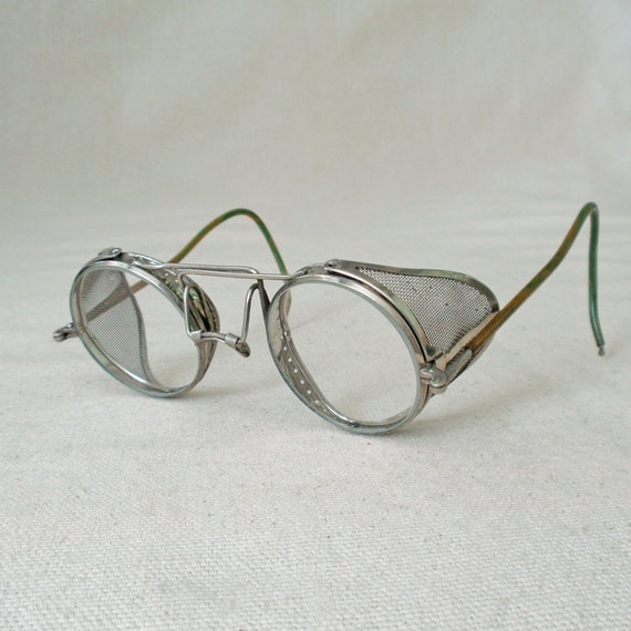 Vintage Steampunk Willson Aviator Driving Safety Glasses