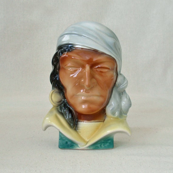 JANUARY SALE  -- Vintage Pirate Head by Royal Copley