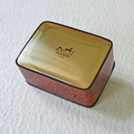 Gently Used Hermés of Paris Travel Soap Dish Box