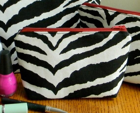 Make-up bag set - Zebra Stripes